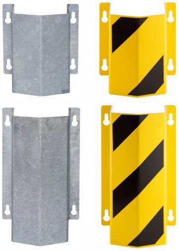 Rörskydd -Little Mountain- av stål, för väggmontering, förzinkat eller gul/svart