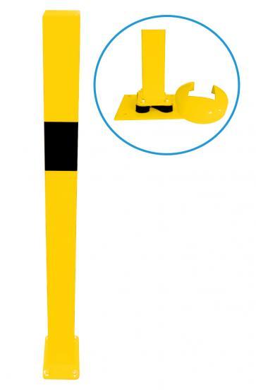 Påkörningsskyddsräcke - Brooklyn - stolpar, elastiska och lutningsbara, 70 x 70 mm, höjd 1000 mm, att fästa med dubb