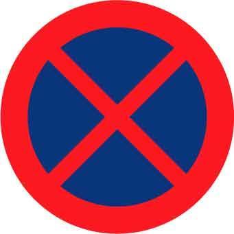 Vägmarkering - Förbud mot att stanna och parkera