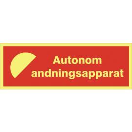 Brandtext. Autonom andningsapparat
