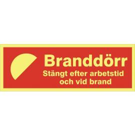 Brandtext. Branddörr
