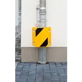 Rörskydd av stål, för väggmontering, gul/svart (DEMO EX)