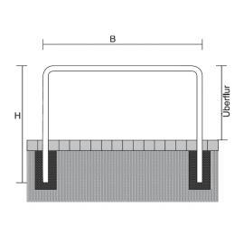 Bågräcke - Ø 76 mm för nedgjutning