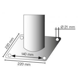 Avspärrningsstolpe -Bollard- 76 cm i diameter, lutningsbar i alla riktningar
