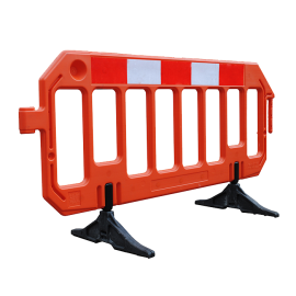 Avspärrningsstaket Stop - staket i plast  (2000x1000 mm) med vridbar fot