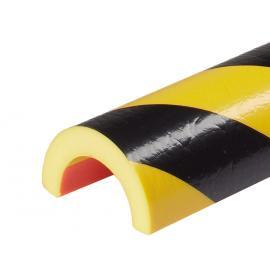 Rörskydd -Protect- Knuffi® av PU, rulle, gul/svart, för rör med en Ø på 20-60 mm, självhäftande och nötningsbeständig