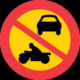 Förbudsskylt,  Förbud mot fordonstrafik, utom moped klass 2 - C3 (flera storlekar)