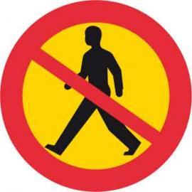 Vägmarkering - Förbud mot gångtrafik