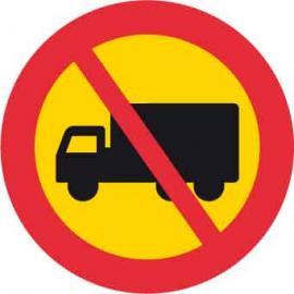Vägmarkering - Förbud mot lastbilstrafik