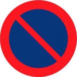 Vägmarkering - Parkering förbjuden