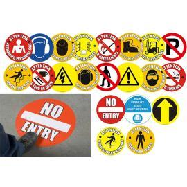 Säkerhetssymboler för golvfäste