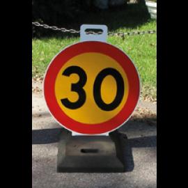 Varningsmärke i plast - Max Hastighet
