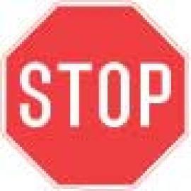 Vägmarkering - Stoppskylt