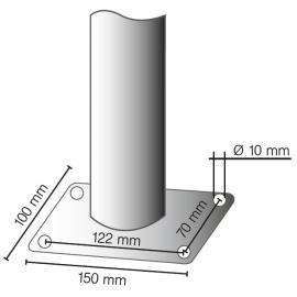 Säkerhetsgrepp -Solid- Ø 48 mm, längd 2000 mm, i gult/svart