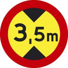 Vägmärke - Begränsad fordonshöjd 3,5m - C17